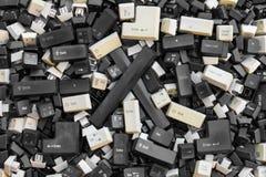 Старые клавиши на клавиатуре Стоковая Фотография