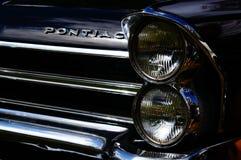 Старые классические черные детали входа автомобиля Стоковое Изображение