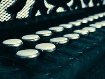 Старые ключи аккордеона Стоковая Фотография RF