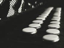 Старые ключи аккордеона стоковые изображения