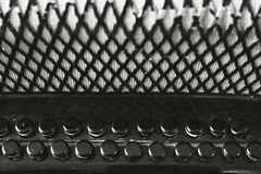 Старые ключи аккордеона Стоковое Фото