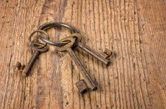 Старые ключи на ключевом кольце Стоковая Фотография RF