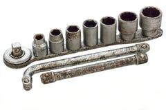 Старые ключи для болтов и гаек Стоковые Фотографии RF