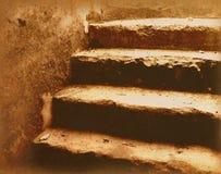 старые лестницы Стоковые Изображения RF
