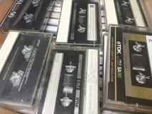 Старые магнитофонные кассеты компакта TDK Стоковое Изображение RF