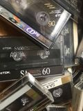 Старые магнитофонные кассеты компакта TDK Стоковые Изображения RF