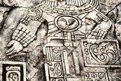 Старые майяские hieroglyphics Стоковое фото RF