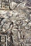 Старые майяские hieroglyphics Стоковые Изображения