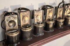 Старые минируя лампы Стоковые Изображения RF