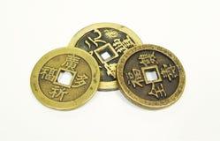 Старые монетки Китая Стоковое Фото