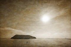 Старые море и остров стиля фото Стоковая Фотография RF