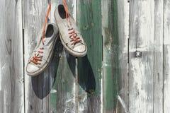 Старые несенные тапки Стоковая Фотография RF