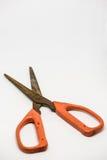 Старые ножницы с ржавым Стоковая Фотография