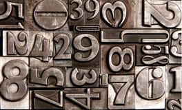Старые номера блока Стоковая Фотография RF