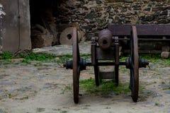 Старые огнестрельные оружия, сохраненные и по сей день Выставка в замке Bolkow Польши Стоковое Изображение