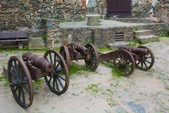 Старые огнестрельные оружия, сохраненные и по сей день Выставка в замке Bolkow Польши Стоковые Изображения RF