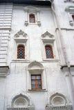 Старые окна церков различных форм kremlin moscow Стоковые Изображения RF