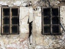 старые окна Стоковая Фотография RF