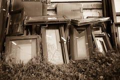 старые окна Стоковая Фотография