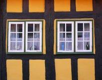 старые окна Стоковые Изображения