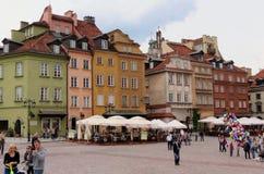 Старые дома, Варшава Стоковое Изображение RF