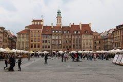Старые дома, Варшава Стоковые Изображения RF