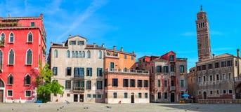 Старые дома Венеции, Италии Стоковые Изображения RF
