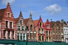 Старые дома в Брюсселе Стоковые Изображения
