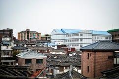 Старые дома в Корее Стоковое Фото