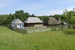 Старые дома в музее Стоковые Фотографии RF