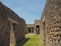 Старые дома в Помпеи Стоковые Фотографии RF