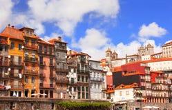 Старые дома в Порту, Португалии Стоковая Фотография RF