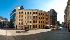 Старые дома в центре Wroclaw Стоковое Изображение