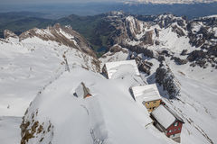 старые дома горы saentis в Швейцарии Стоковое Изображение RF