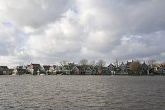 Старые дома на Zaanse Schans стоковое изображение rf