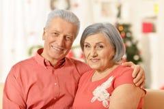 Старые пары на рождестве Стоковое Фото