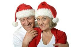 Старые пары празднуя Новый Год Стоковые Фотографии RF