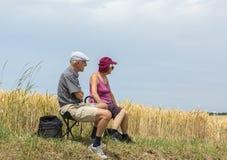 Старые пары - Тур-де-Франс 2015 Стоковые Изображения