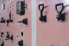 Старые переключатели на электрическом centrale Стоковая Фотография