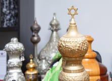 Старые перечени Torah, звезда Дэвида Стоковые Фото