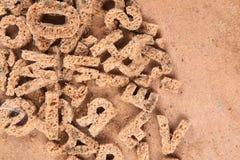 старые письма от хлеба стоковое изображение