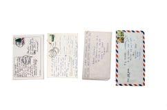 Старые письма 2 румына стоковое фото