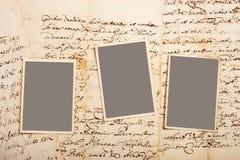 Старые письма с изображениями Стоковые Изображения