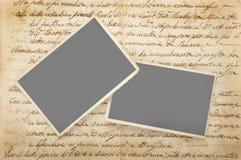 Старые письма с изображениями Стоковая Фотография RF