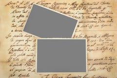Старые письма с изображениями Стоковые Фотографии RF
