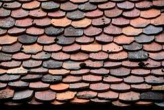 старые плитки крыши картины Стоковые Изображения RF