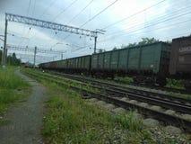 старые поезда Стоковое Изображение