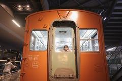 Старые поезда в железнодорожном музее Omiya, Японии Стоковое фото RF