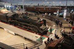 Старые поезда в железнодорожном музее Omiya Стоковые Изображения