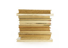Старые, пожелтетые книги на белой предпосылке Стоковое Изображение